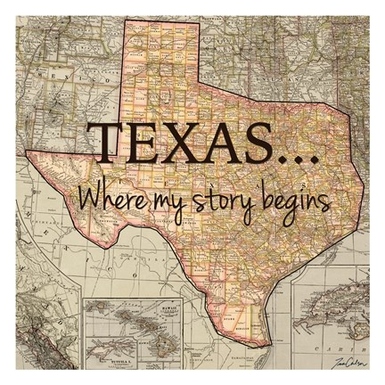 Framed Texas My Story Print