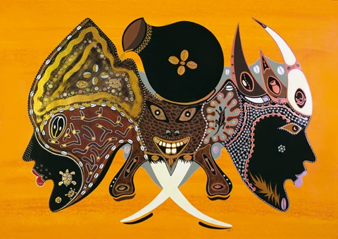 Bantu Mask Fine Art Print By Timoth 233 Kodjo Honkou At