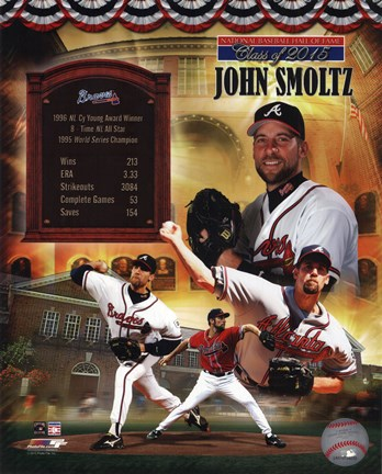 Framed John Smoltz MLB Hall of Fame Legends Composite Print