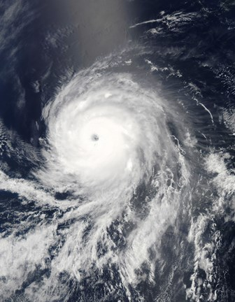 Framed Satellite view of Hurricane Celia over the Pacific Ocean Print