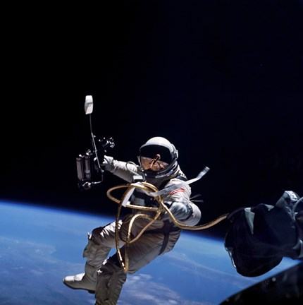 Framed Astronaut Floats in Space during a Spacewalk Performed during the Gemini 4 mission Print