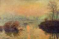Sun Setting over the Seine at Lavacourt. Winter Effect, 1880 Art