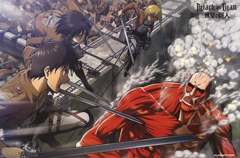 Framed Attack on Titan - Battle Print