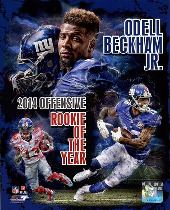 Framed Odell Beckham Jr. 2014 NFL Offensive Rookie Of The Year Portrait Plus Print