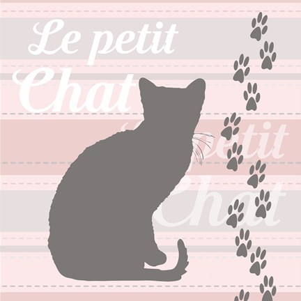 Framed Le Petit Chat Print