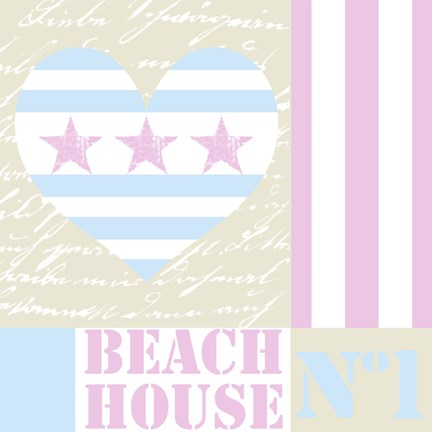 Framed Beach House Love Print