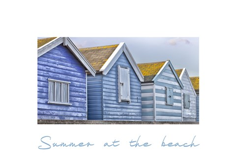 Framed Summer at the Beach Print