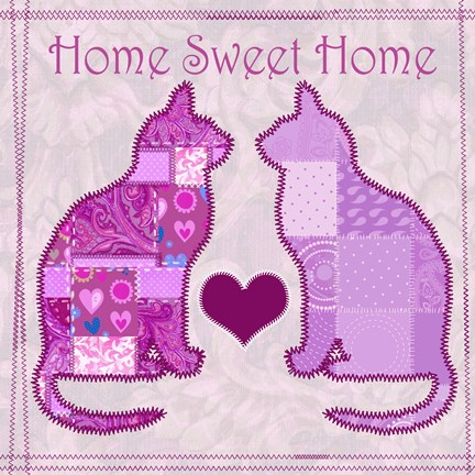 Framed Home Sweet Home Cats III Print