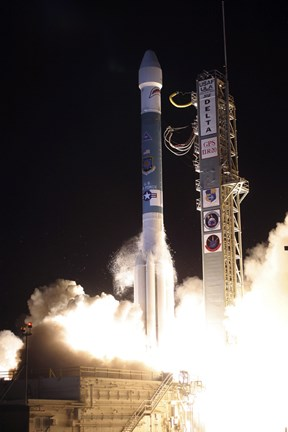 Framed United Launch Alliance Delta II Rocket Lifts off from its Launch Complex Print