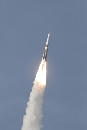 Framed Delta IV Rocket Roars into the Sky with the GOES-O Satellite Aboard Print