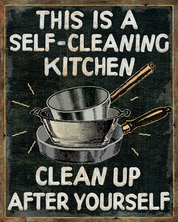 Framed Self Cleaning Kitchen Print