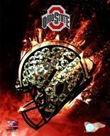 Ohio State Buckeyes Helmet  Fine Art Print