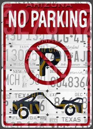 Framed No Parking Print