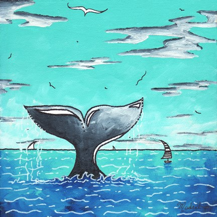 Framed Whale Tail - Better Print