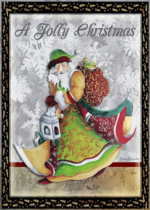 Framed Jolly Christmas Print