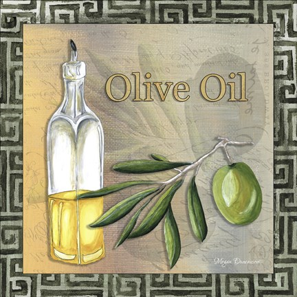 Framed Olive Oil 2 Print