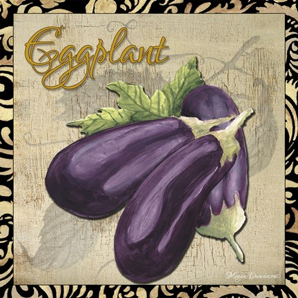 Framed Vegetables 1 Eggplant Print