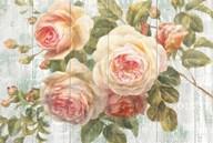 Vintage Roses on Driftwood  Fine Art Print