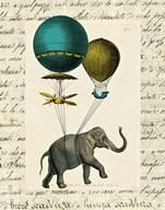 Elephant Ride I v.2  Fine Art Print