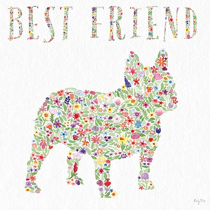 Framed French Bulldog - Best Friend Print