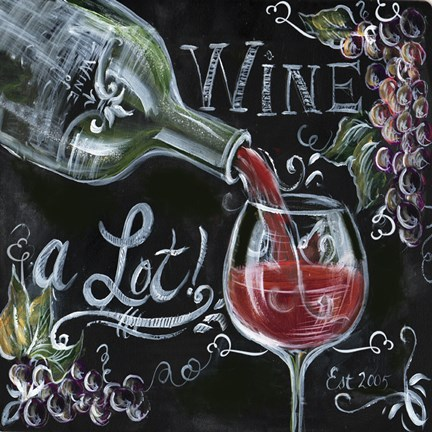 Chalkboard Wine I Fine Art Print By Tre Sorelle Studios At