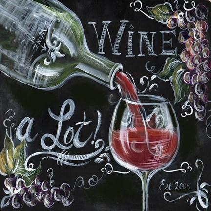 Chalkboard wine i fine art print by tre sorelle studios at for Wine chalkboard art