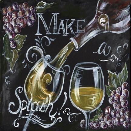 Chalkboard wine ii fine art print by tre sorelle studios for Wine chalkboard art