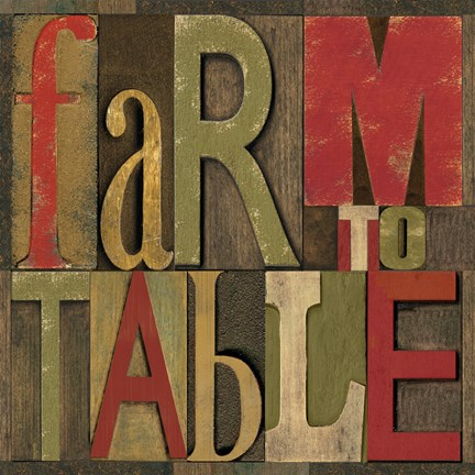 Framed Printers Block Farm To Table I Print