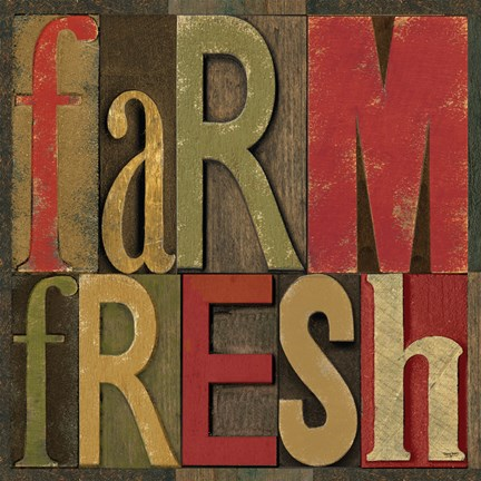 Framed Printers Block Farm To Table IV Print