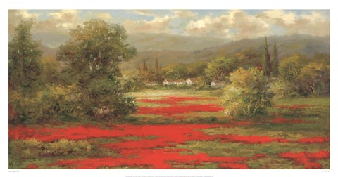 Framed Poppy Village Print