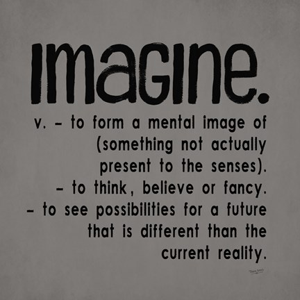 Framed Definitions-Imagine IV Print