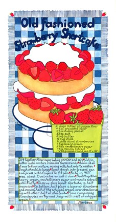 Framed Old Fashioned Strawberry Shortcake Print