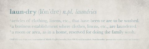 Framed Definitions Laundry Blue Print