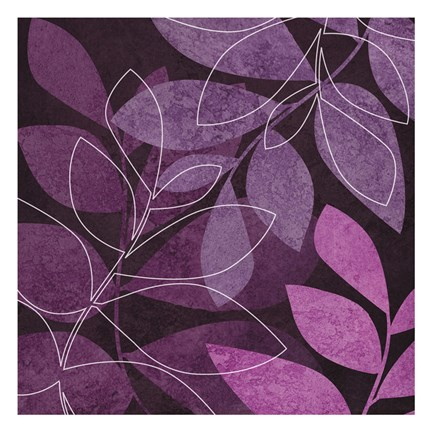 Framed Purple Leaves 2 Print