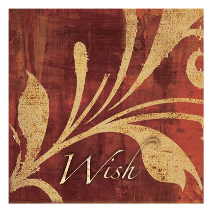 Framed Red Gold Wish  2 Print