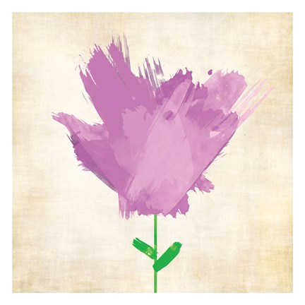Framed Brush Stroke Flowers Violet 2 Print