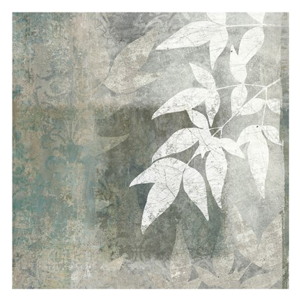 Framed Spa Leaves 1 Print