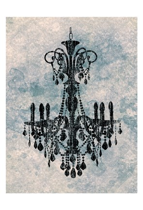 Framed Chandelier B Print