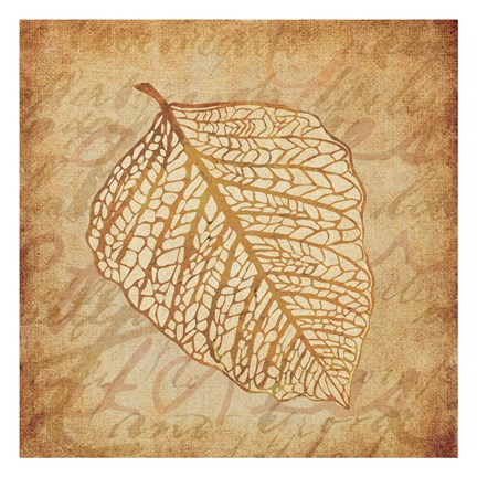 Framed Gold Leaves 2 Print