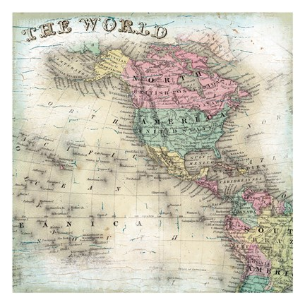 Framed World Map 6 Print