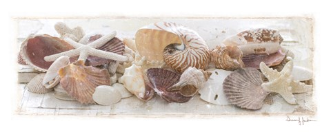 Framed Treasures by the Sea I Print