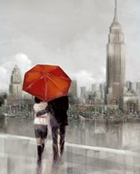 Modern Couple in New York  Fine Art Print
