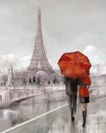 Modern Couple in Paris  Fine Art Print
