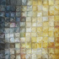 Yellow Gray Mosaics I Art