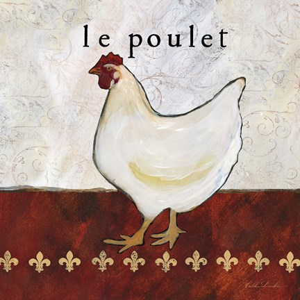 Framed French Country Kitchen II (Le Poulet) Print