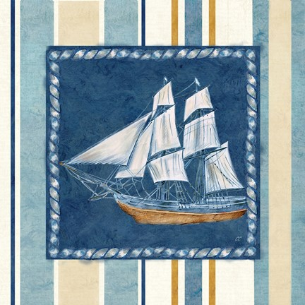 Framed Nautical Stripe II Print