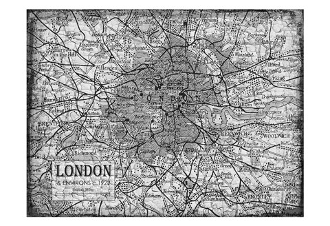 Framed Environs London Gray Print
