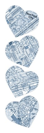 Framed Map To Your Heart Manhattan 3 Print