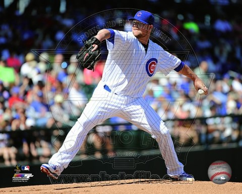 Framed Jon Lester 2015 Action Print