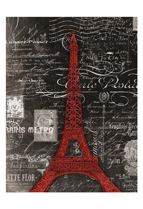 Framed Eco Vintage Paris 1 Print